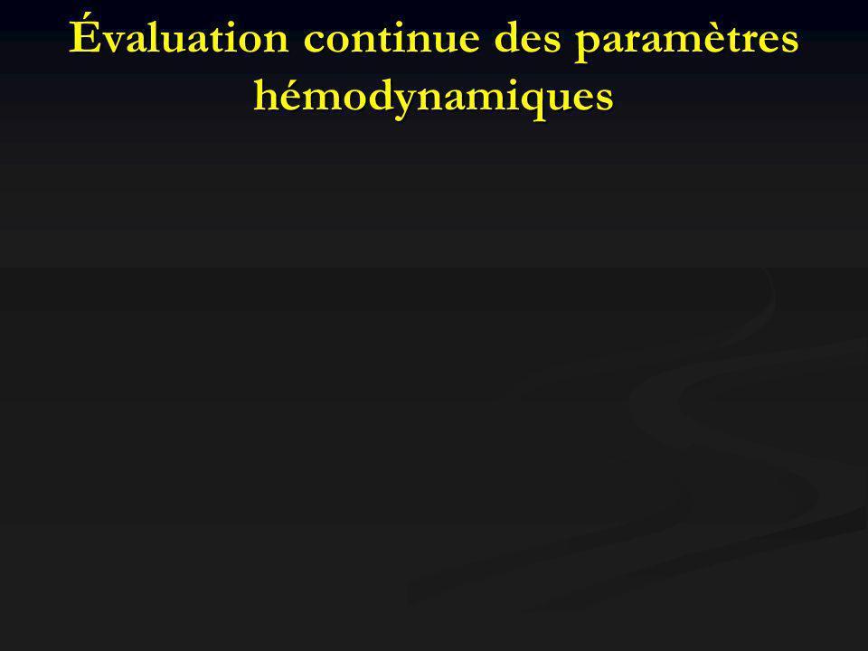 Évaluation continue des paramètres hémodynamiques