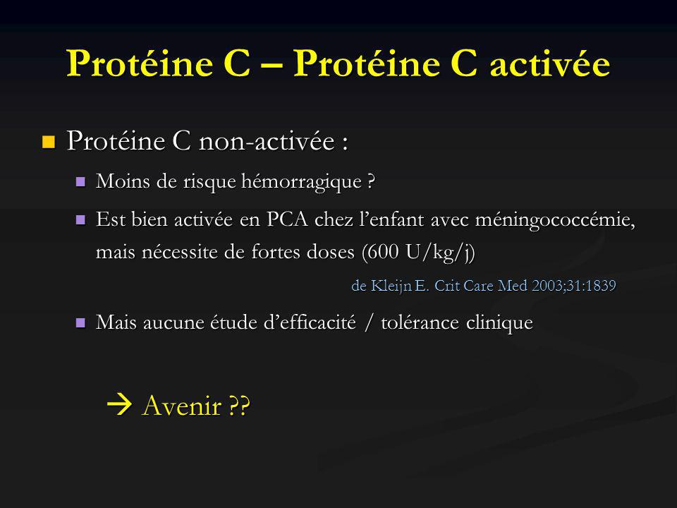 Protéine C – Protéine C activée