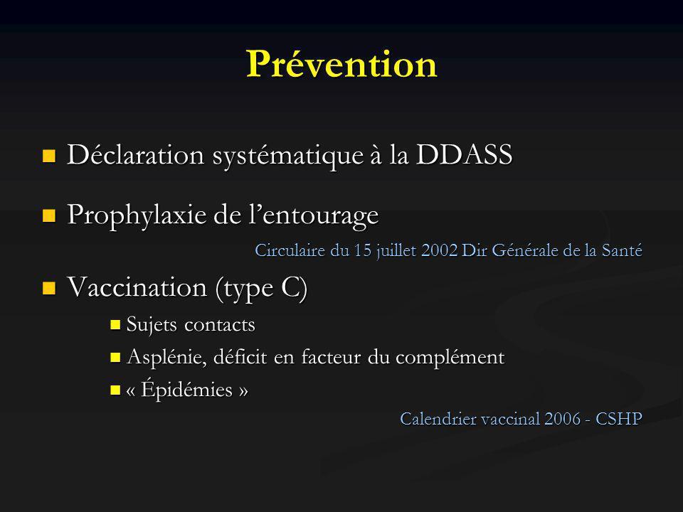 Prévention Déclaration systématique à la DDASS