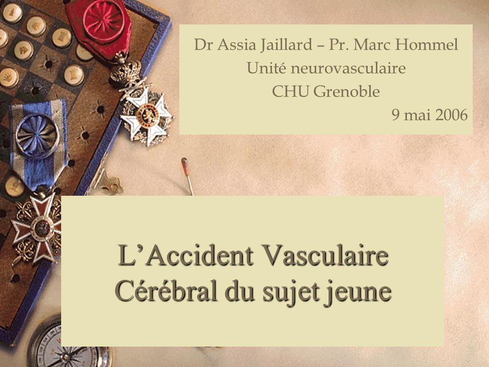 L'Accident Vasculaire Cérébral du sujet jeune
