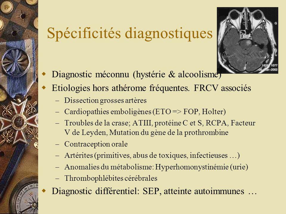Spécificités diagnostiques