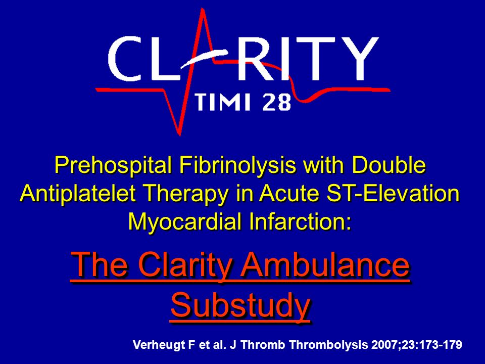 The Clarity Ambulance Substudy