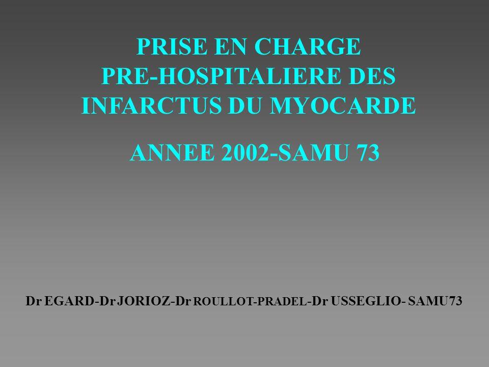 PRE-HOSPITALIERE DES INFARCTUS DU MYOCARDE