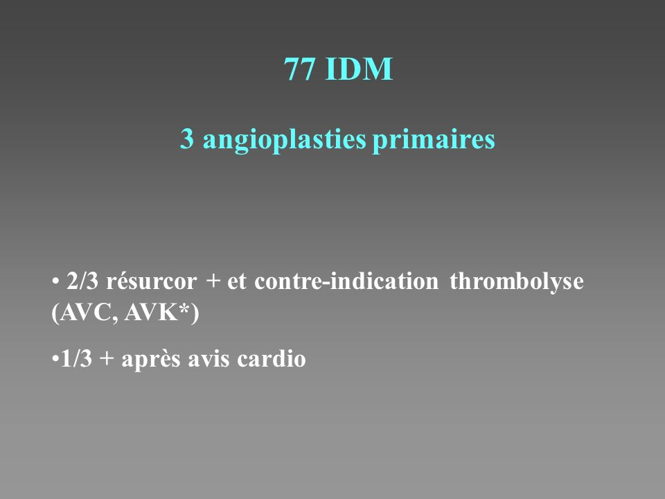3 angioplasties primaires