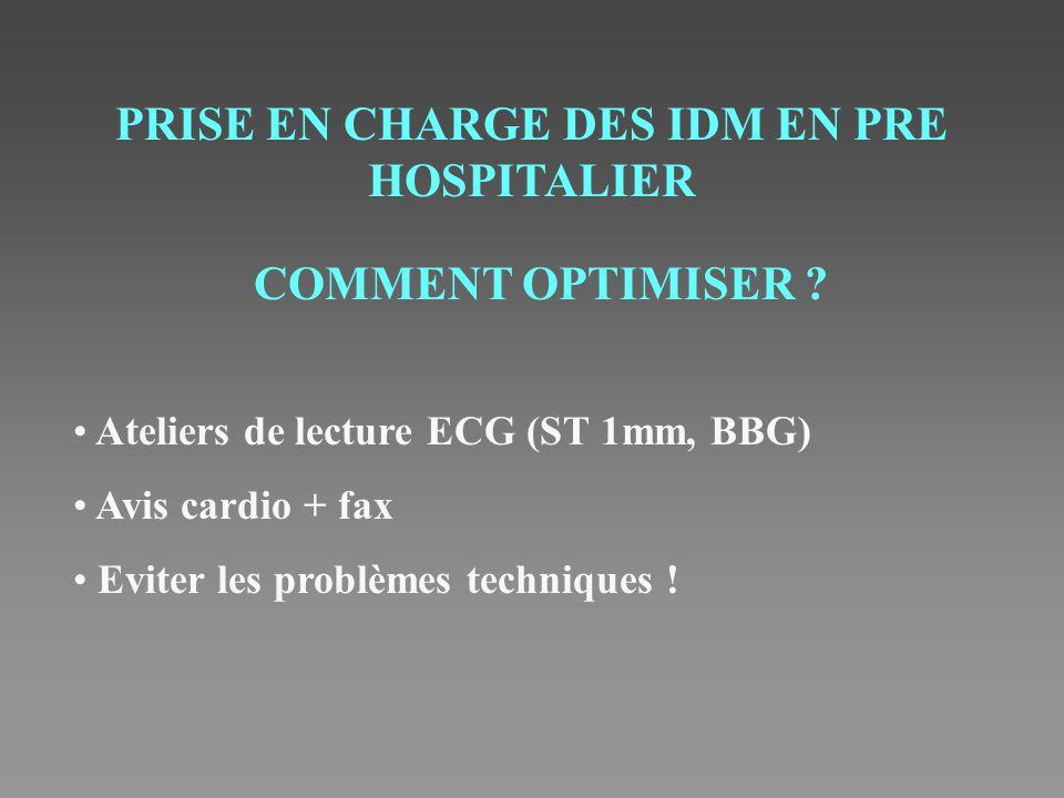 PRISE EN CHARGE DES IDM EN PRE HOSPITALIER