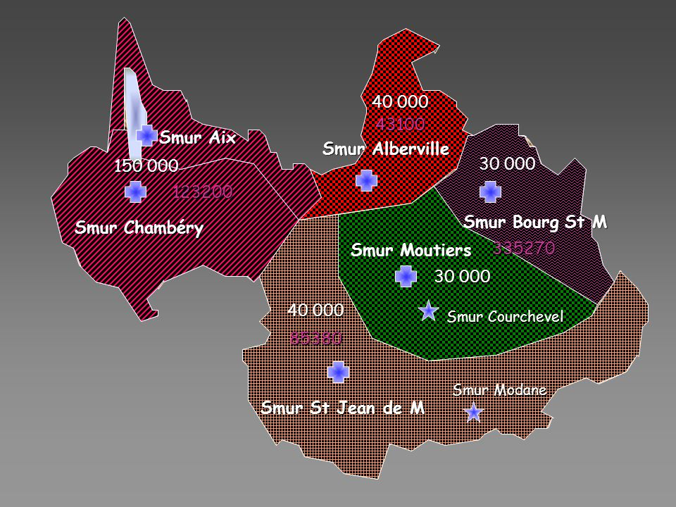 40 000 43100 Smur Aix Smur Alberville 30 000 150 000 123200