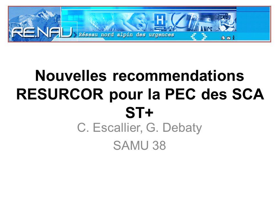 Nouvelles recommendations RESURCOR pour la PEC des SCA ST+