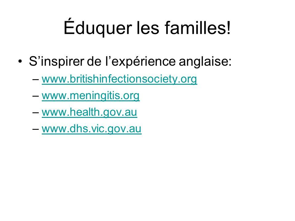 Éduquer les familles! S'inspirer de l'expérience anglaise: