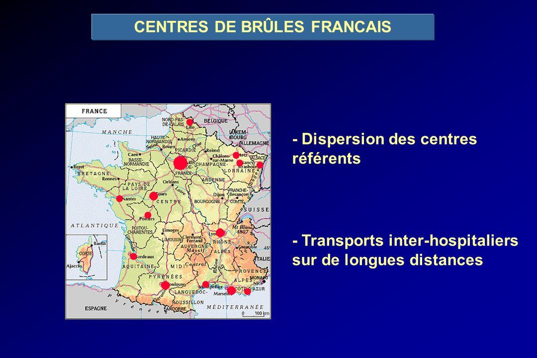 CENTRES DE BRÛLES FRANCAIS