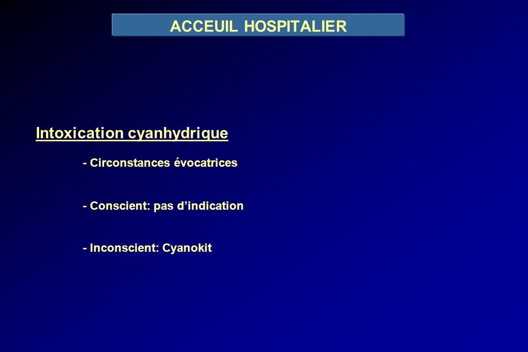 Intoxication cyanhydrique - Circonstances évocatrices