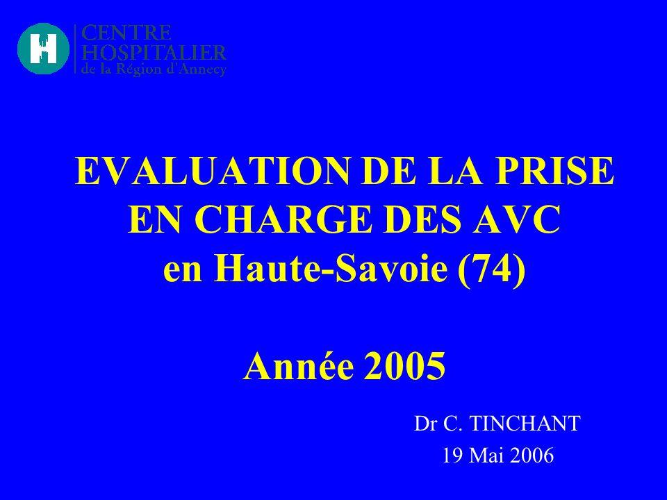 EVALUATION DE LA PRISE EN CHARGE DES AVC en Haute-Savoie (74) Année 2005