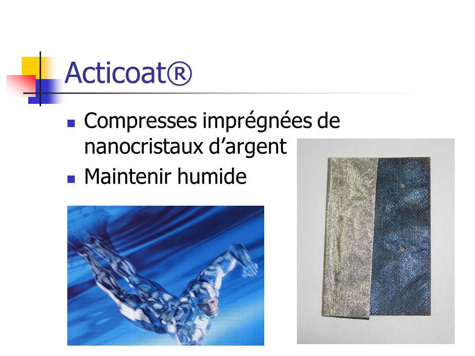 Acticoat® Compresses imprégnées de nanocristaux d'argent
