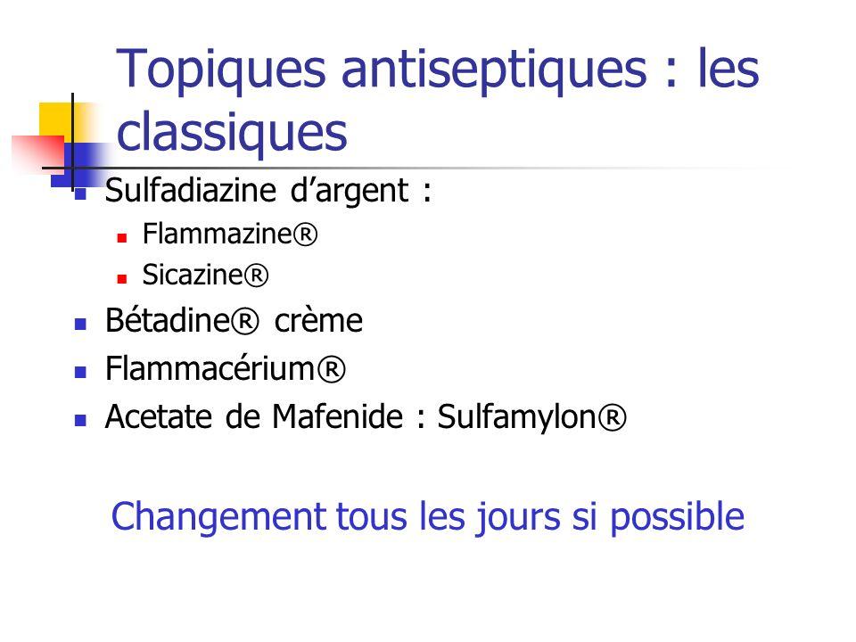 Topiques antiseptiques : les classiques