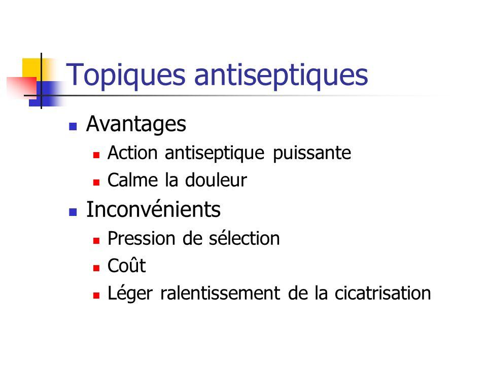 Topiques antiseptiques