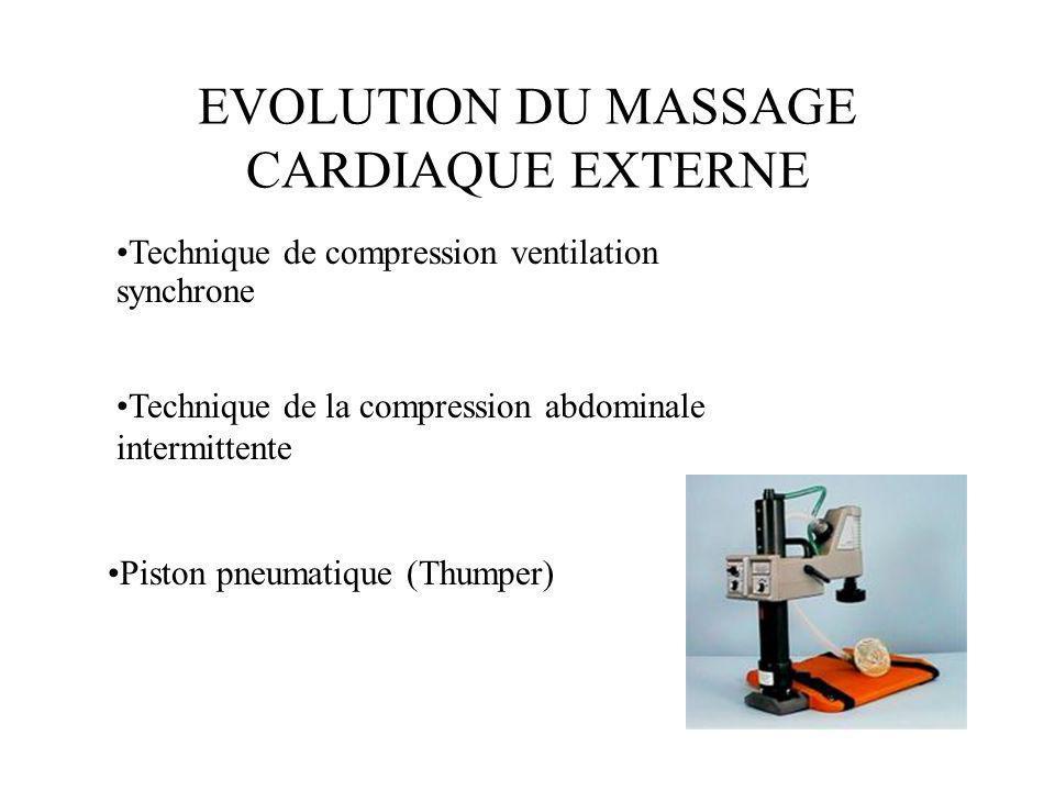 EVOLUTION DU MASSAGE CARDIAQUE EXTERNE