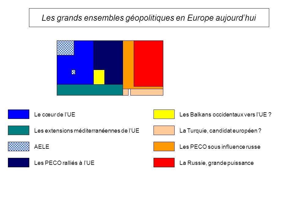 Les grands ensembles géopolitiques en Europe aujourd'hui