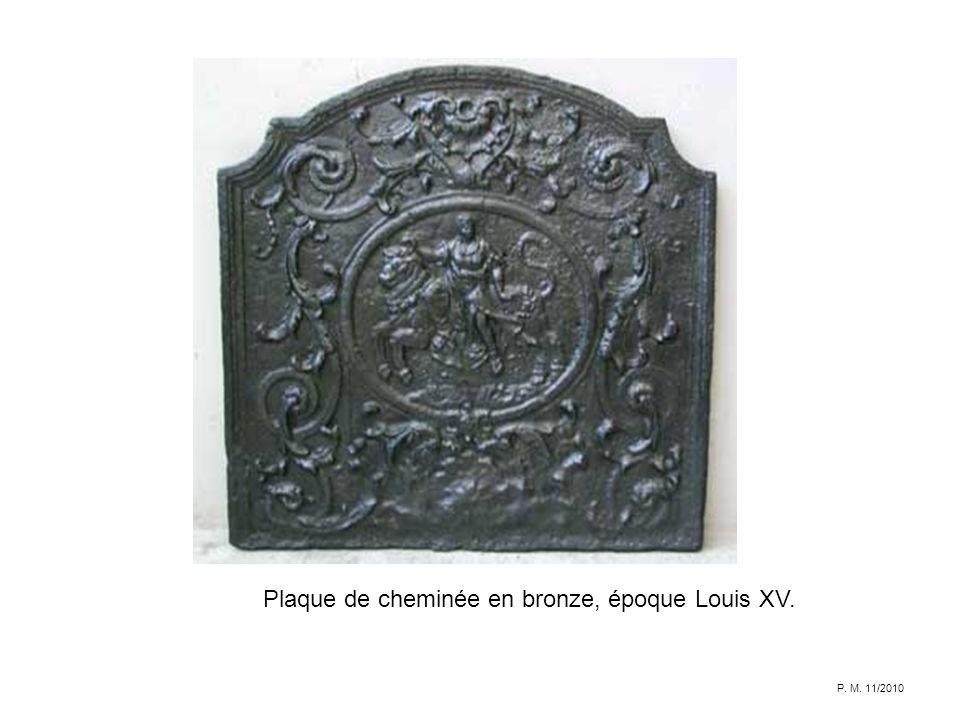 Plaque de cheminée en bronze, époque Louis XV.