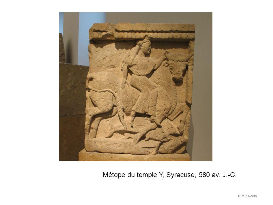 Métope du temple Y, Syracuse, 580 av. J.-C.