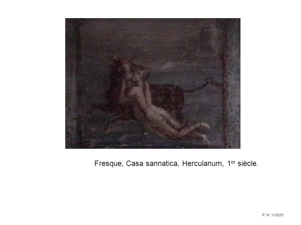 Fresque, Casa sannatica, Herculanum, 1er siècle.