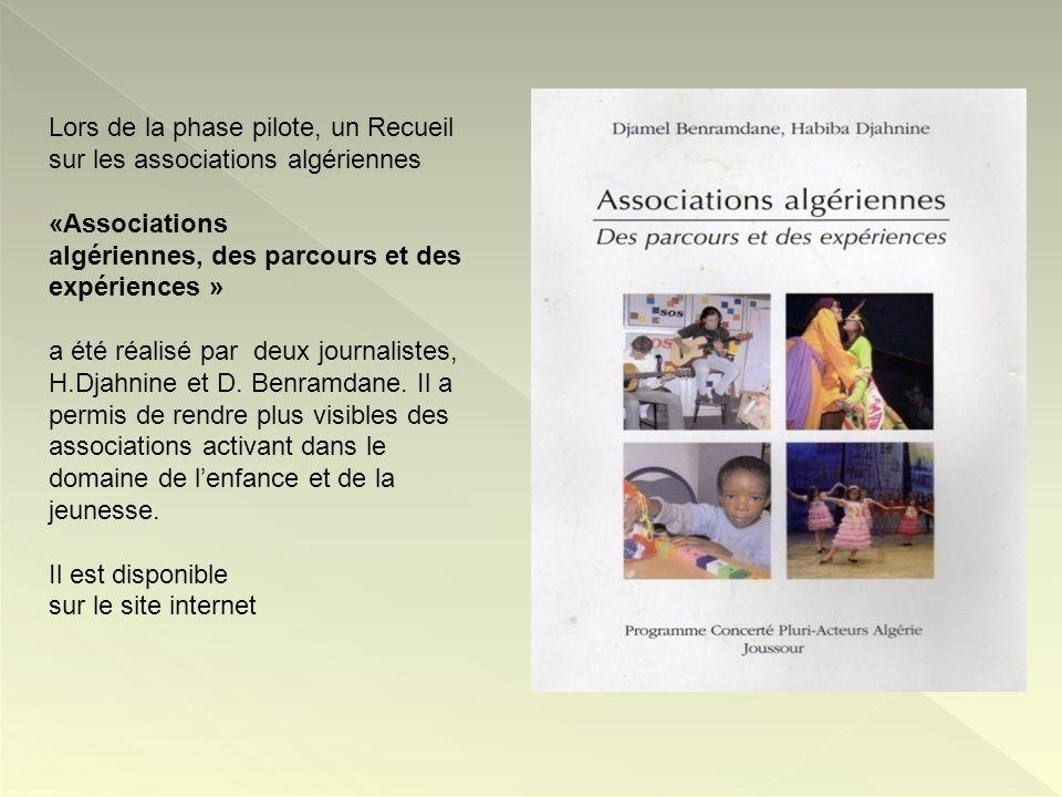 Lors de la phase pilote, un Recueil sur les associations algériennes