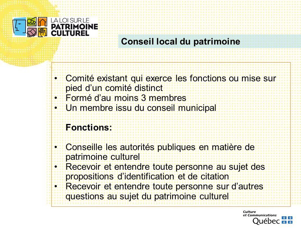 Conseil local du patrimoine
