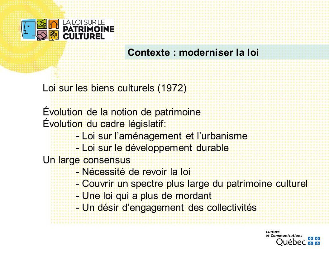 Contexte : moderniser la loi