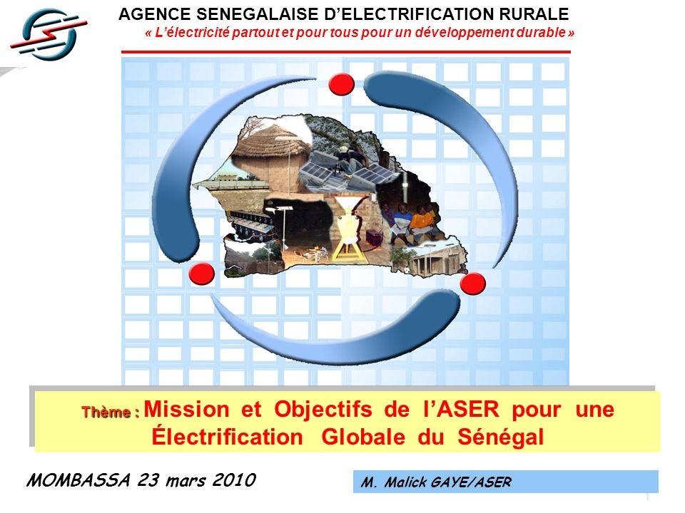 AGENCE SENEGALAISE D'ELECTRIFICATION RURALE