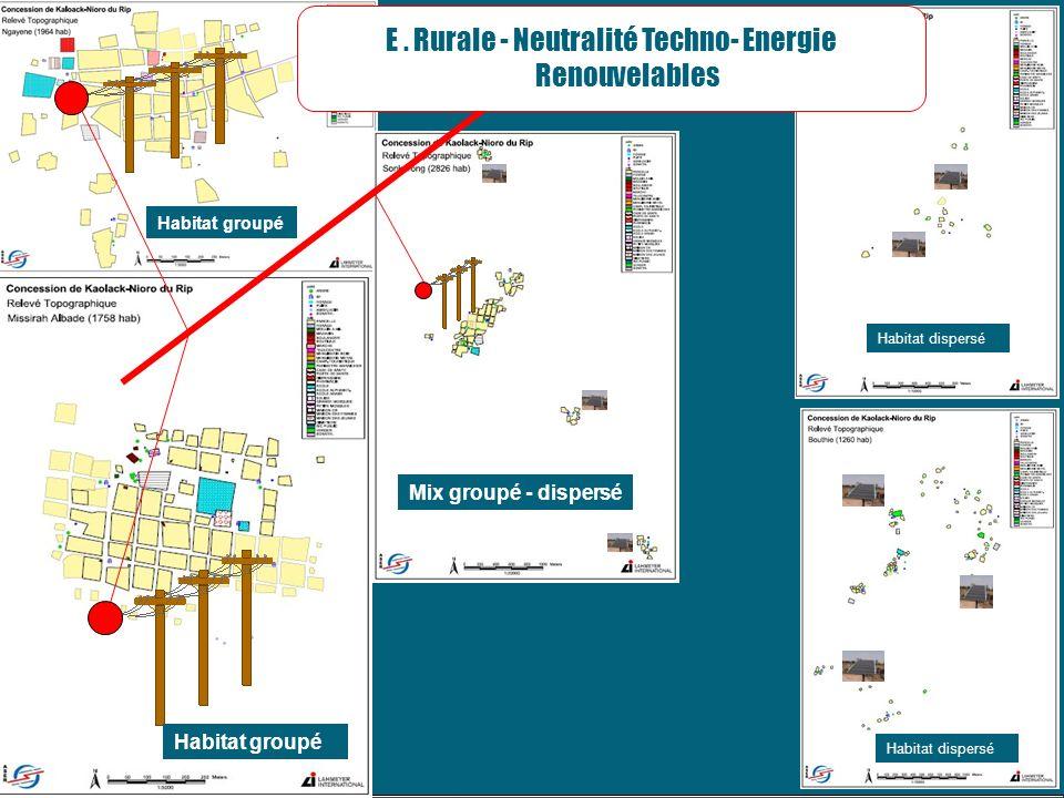 E . Rurale - Neutralité Techno- Energie Renouvelables