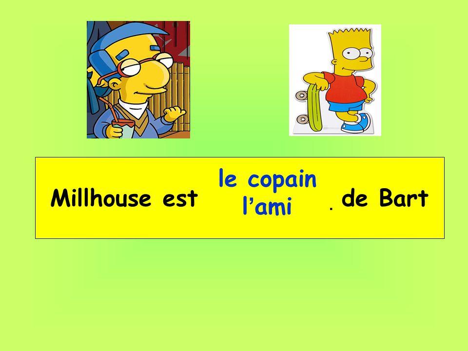 Millhouse est __ _____ de Bart