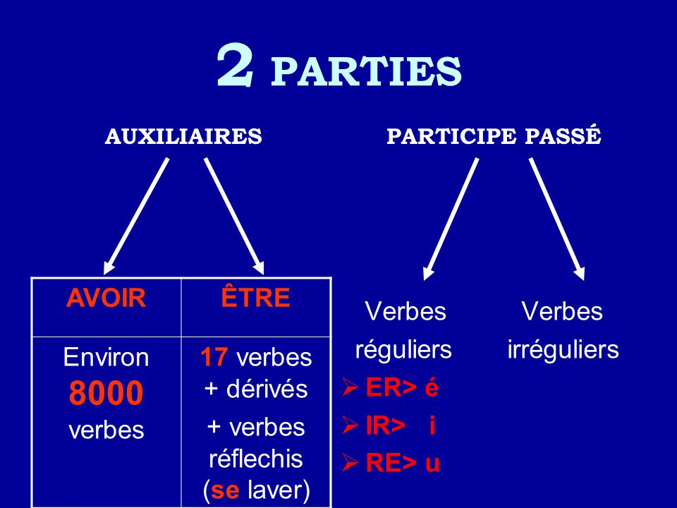 + verbes réflechis (se laver)