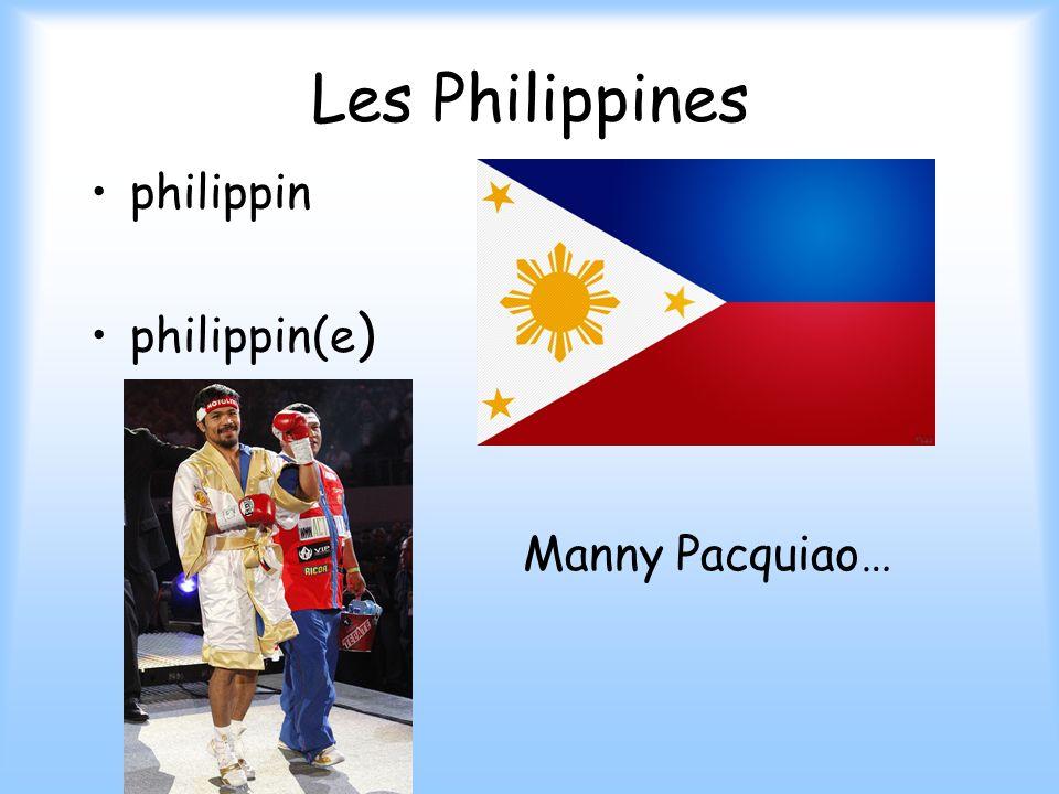 Les Philippines philippin philippin(e) Manny Pacquiao…