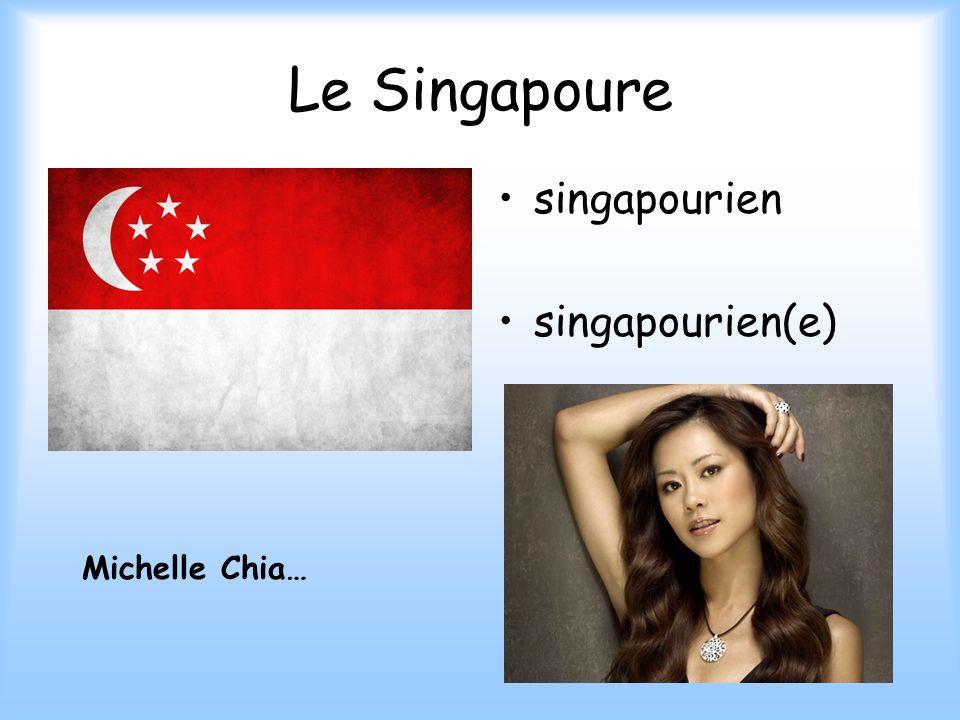 Le Singapoure singapourien singapourien(e) Michelle Chia…