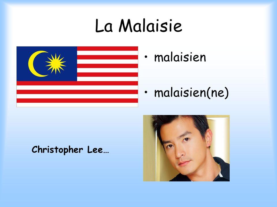 La Malaisie malaisien malaisien(ne) Christopher Lee…