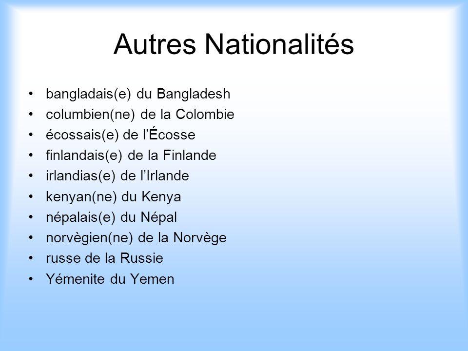 Autres Nationalités bangladais(e) du Bangladesh