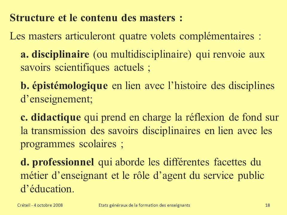 Etats généraux de la formation des enseignants