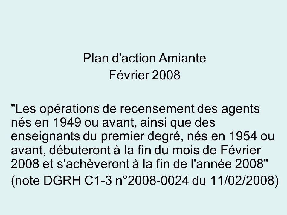 Plan d action AmianteFévrier 2008.