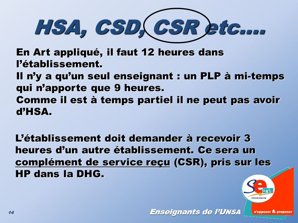 L'établissement doit demander à recevoir 3 heures d'un autre établissement. Ce sera un complément de service reçu (CSR), pris sur les HP dans la DHG.