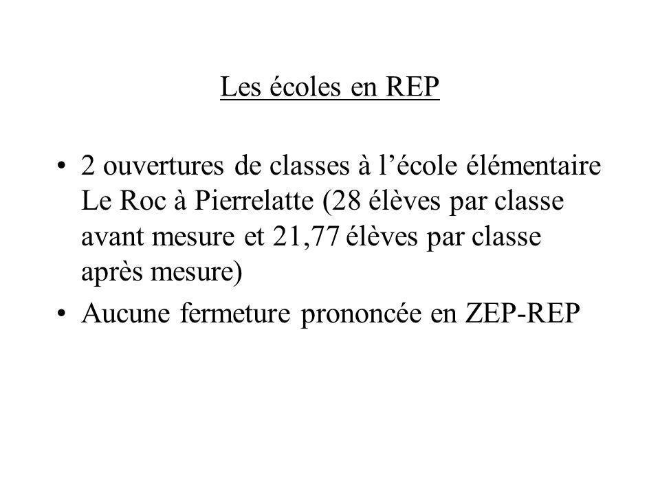 Les écoles en REP