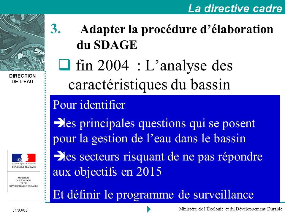 Adapter la procédure d'élaboration du SDAGE