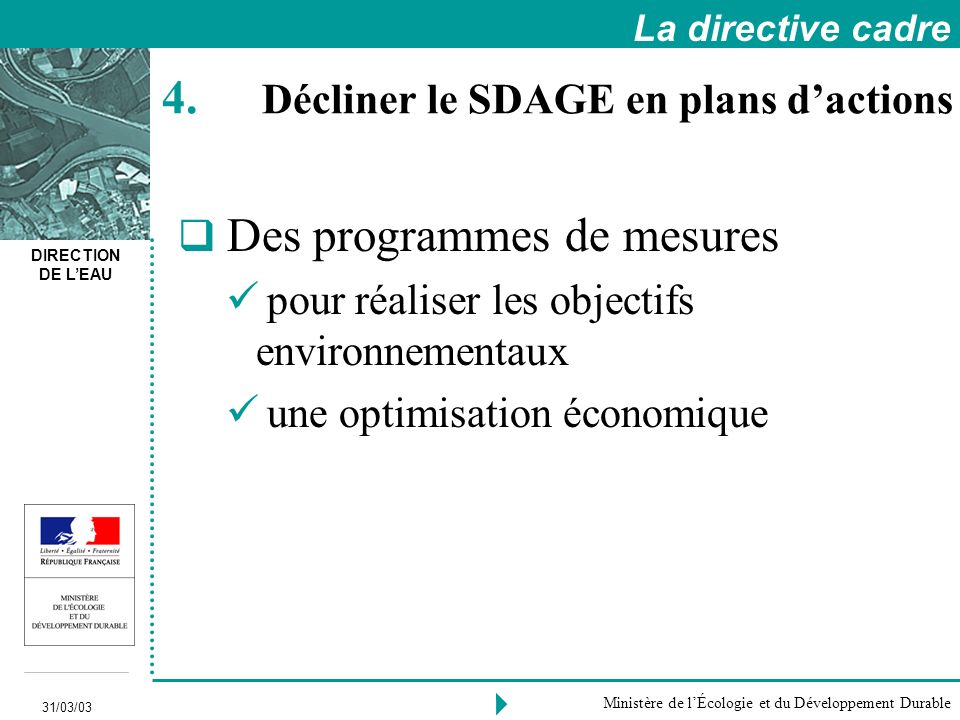 Décliner le SDAGE en plans d'actions