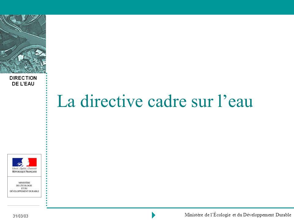 La directive cadre sur l'eau