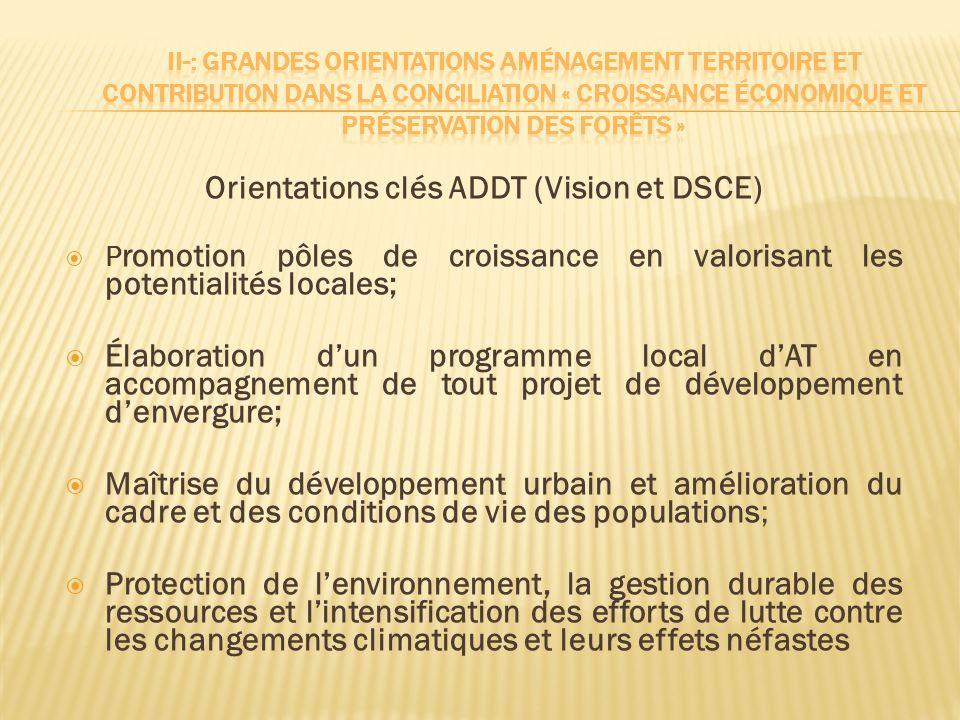 Orientations clés ADDT (Vision et DSCE)