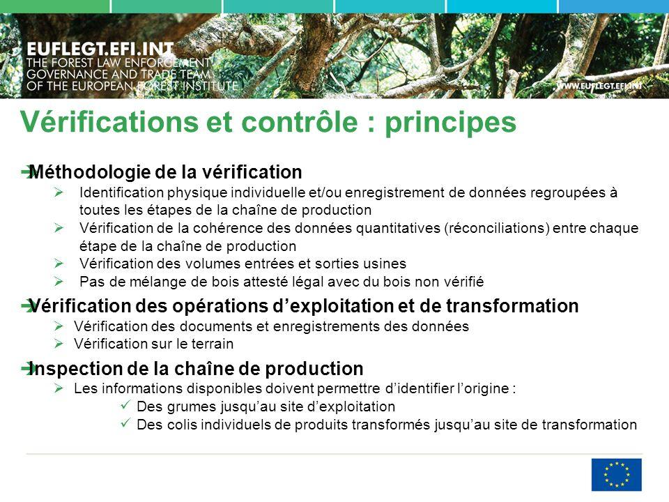 Vérifications et contrôle : principes