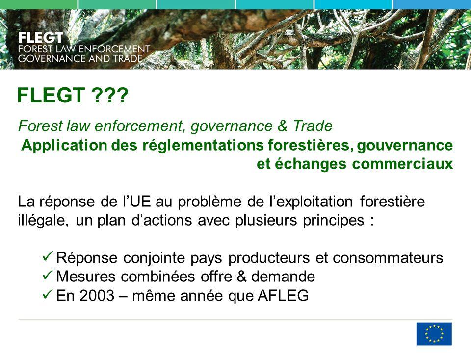 FLEGT Forest law enforcement, governance & Trade