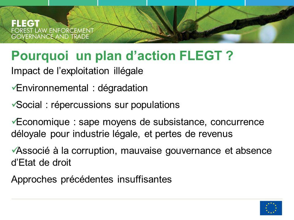 Pourquoi un plan d'action FLEGT