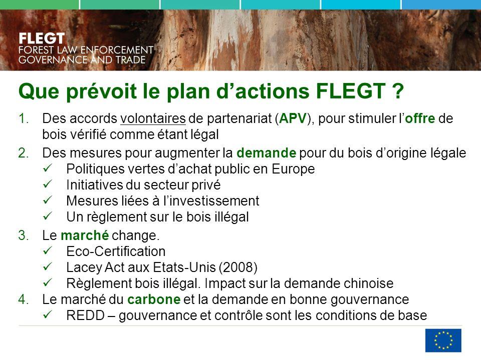 Que prévoit le plan d'actions FLEGT