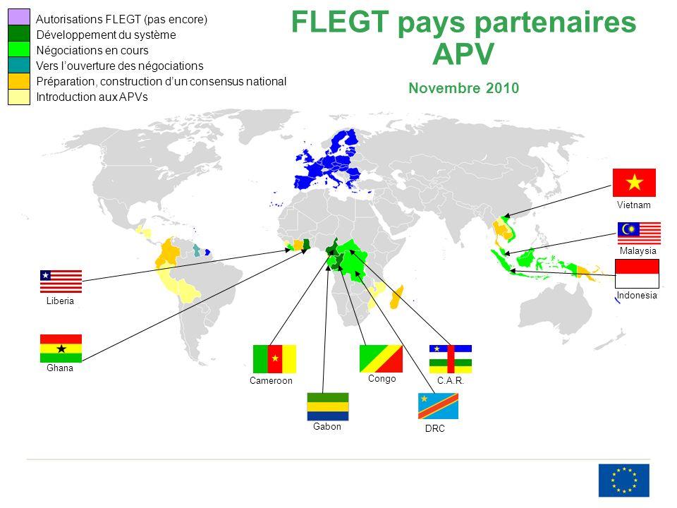 FLEGT pays partenaires APV