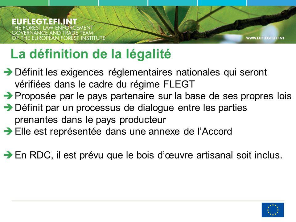 La définition de la légalité