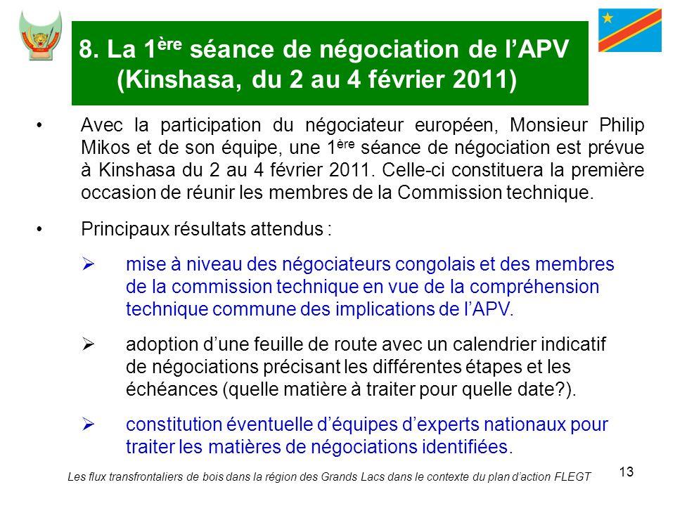 8. La 1ère séance de négociation de l'APV (Kinshasa, du 2 au 4 février 2011)