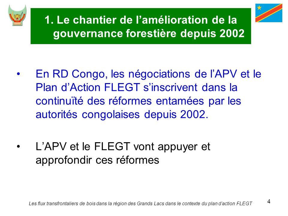L'APV et le FLEGT vont appuyer et approfondir ces réformes